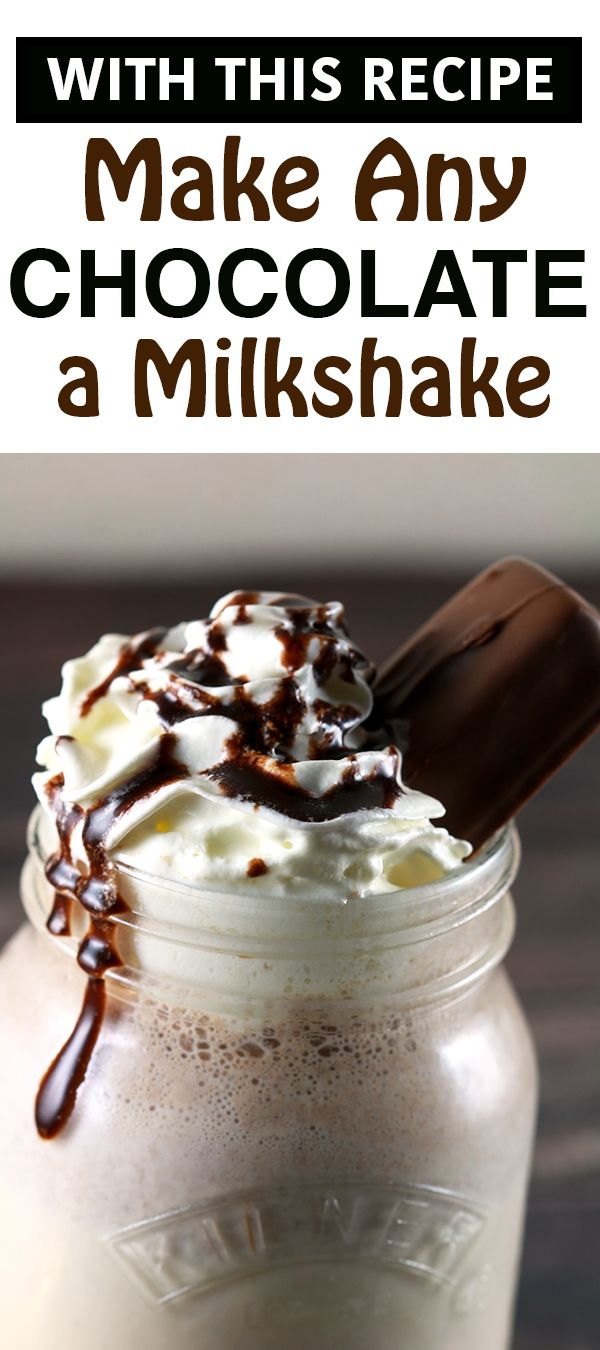 Have you always wanted to take your favorite chocolate and turn it into a delicious, creamy milkshake?!! Will then this recipe is meant for you!! Super easy and works with every chocolate! | ScrambledChefs.com
