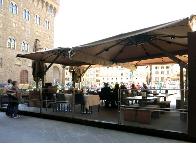 Meal with a view, Gucci Caffe Florence
