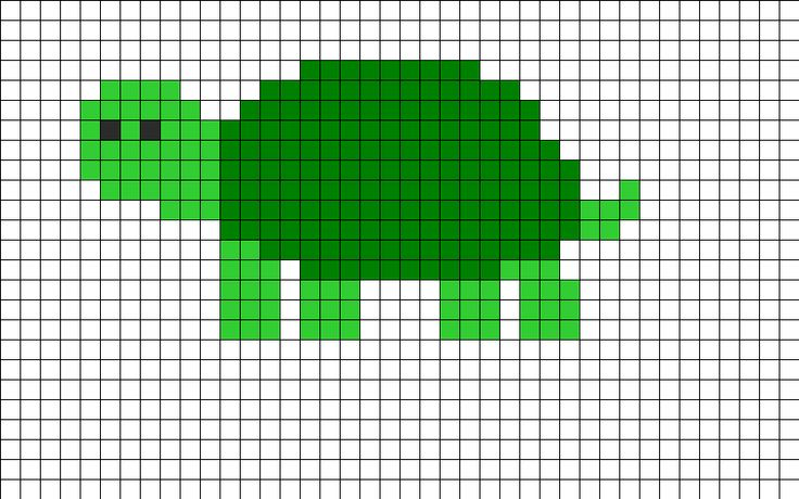 Turtle Perler Bead Pattern Crochet Knit Stitch