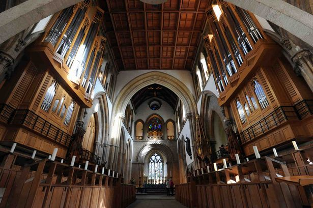 Tuning of the new organ in llandaff Cathedral, Cardiff.  Wales
