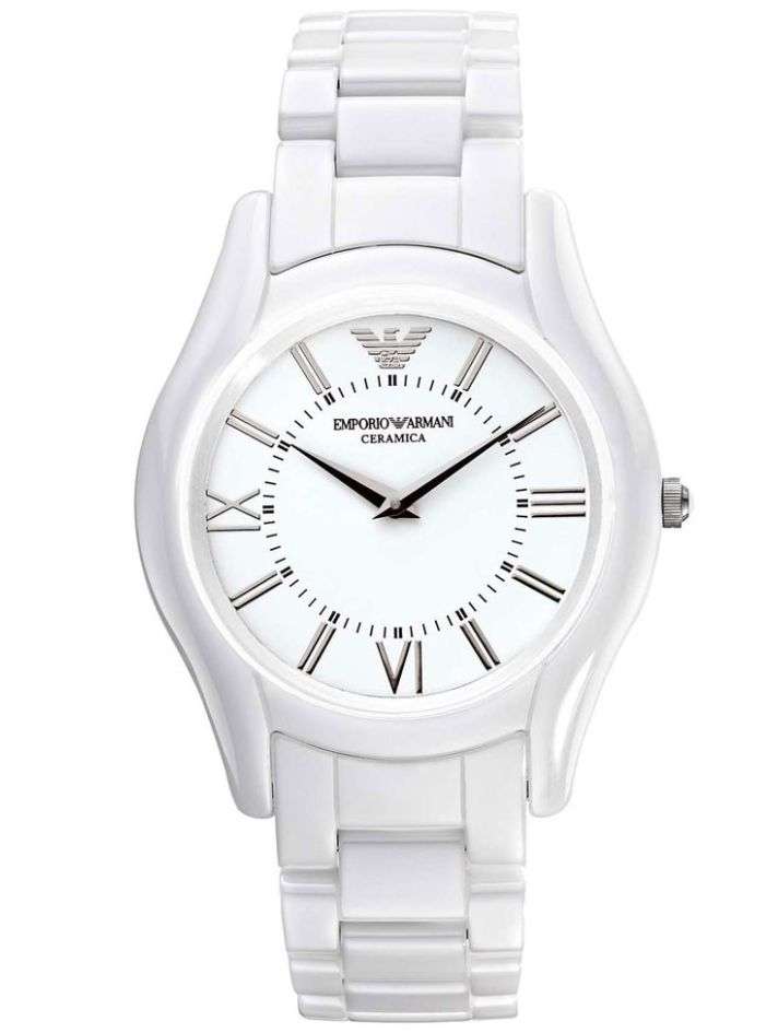 17 best images about emporio armani ceramics white emporio armani unisex white dial white ceramic watch ar1443