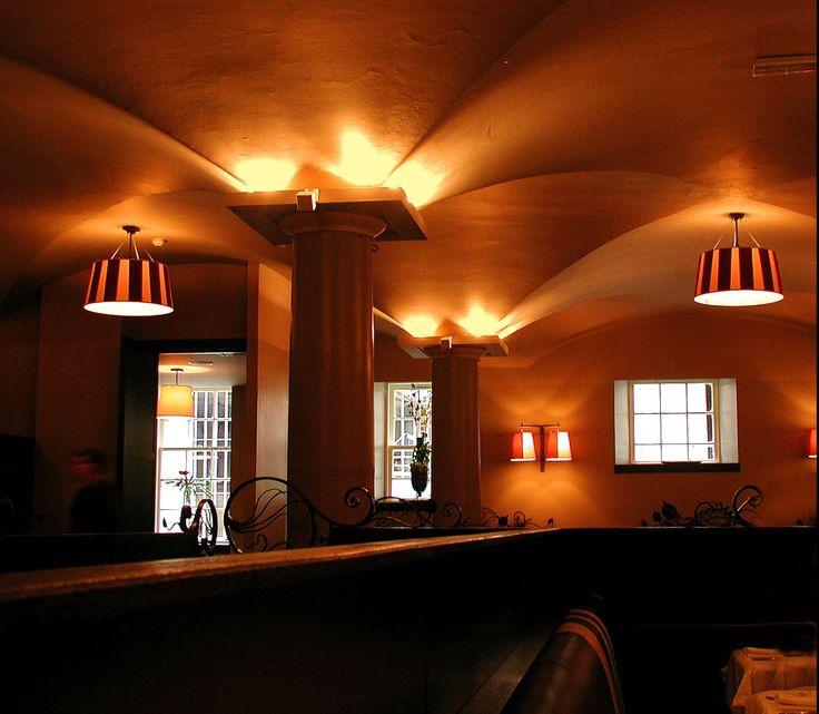 Malmaison Brasserie - archive shot of the work of into lighting #restaurant #lighting #design