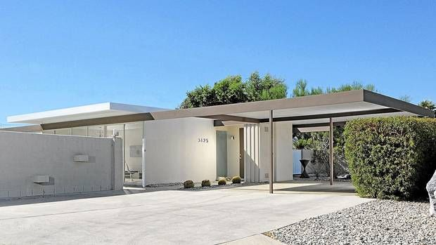 Brian McGuire's prefabricated steel house in Palm Springs, Calif., designed in 1961 by architects Donald Wexler and Ric Harrison. In March, it became the first postwar structure recognized by the U.S. National Register of Historic Places. (Dan Chavkin /Dan Chavkin)