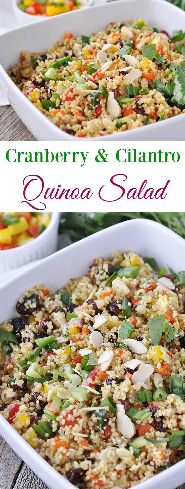 Cranberry & Cilantro Quinoa Salad is the perfect healthy side dish.