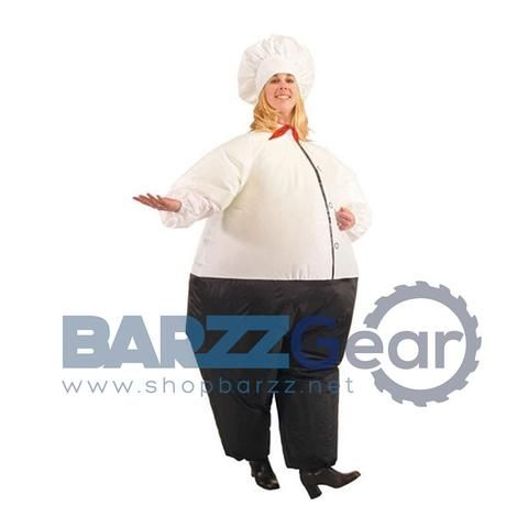 Inflatable Big Chef Costume, 5ft-6.5ft
