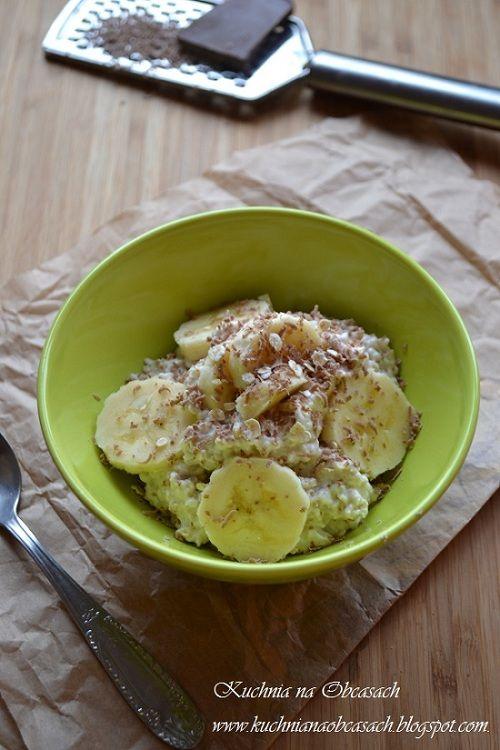 kuchnia na obcasach: Owsianka całonocna z bananem i czekoladą