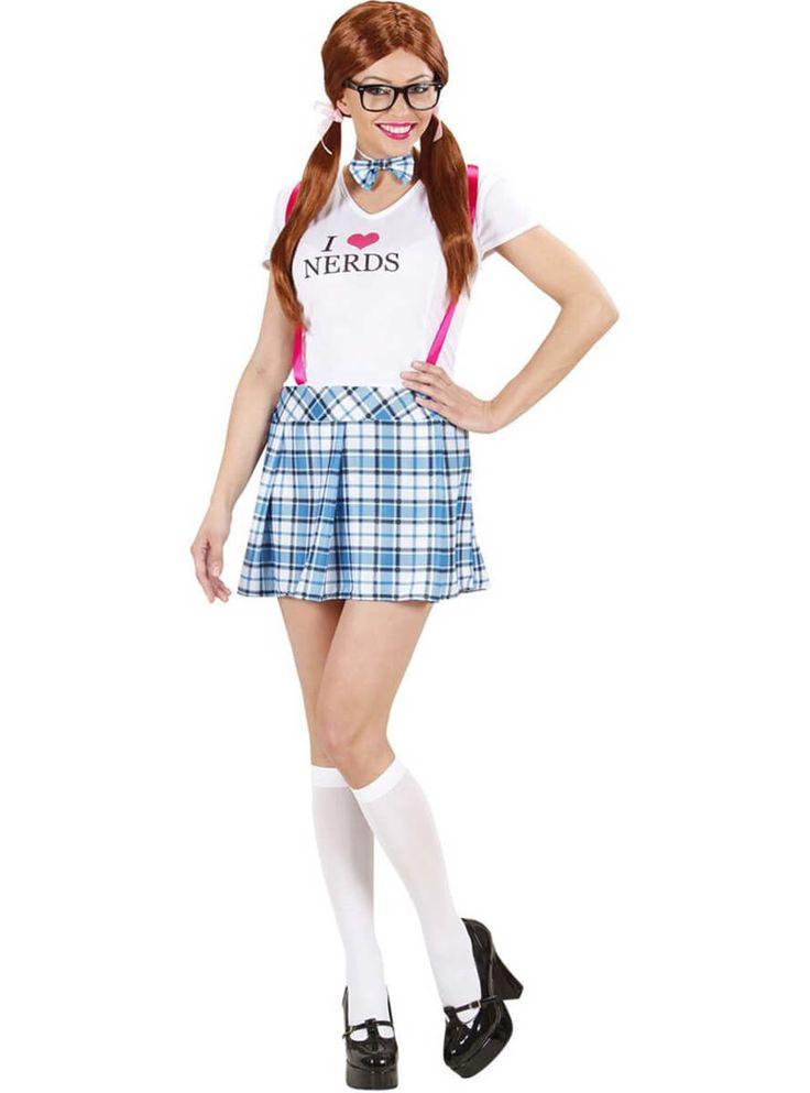 Disfraz de empollona de colegio talla grande para mujer