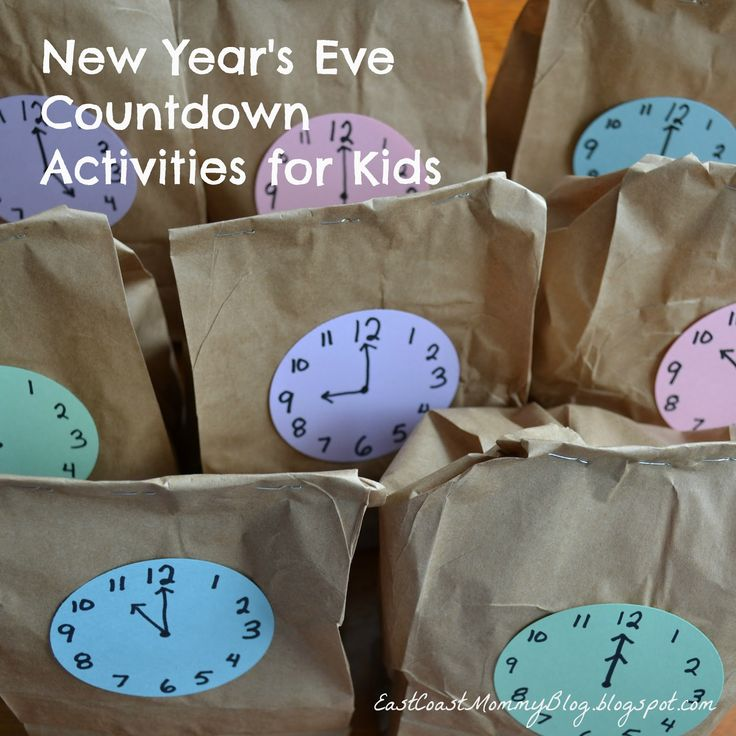 New Year's Eve Countdown Activities {for kids}