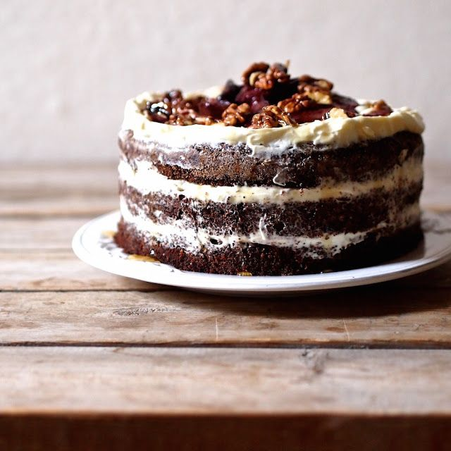Laskominy od Maryny: Makový dort s pečenými švestkami a karamelizovaným...