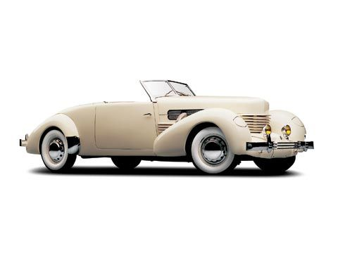Cord was the brand name of a United States automobile, manufactured by the Auburn Automobile Company from 1929 through 1932 and again in 1936 and 1937. If you have this white 1936 Cord in your possession, make sure it's protected and visit: www.americancollectors.com.