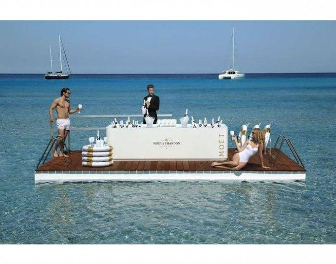 Floating Champagne Bars : floating bar