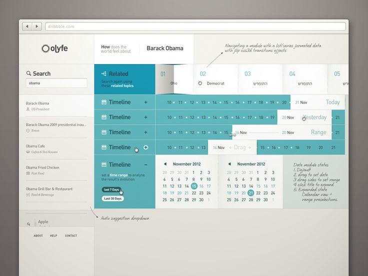 Olyfe-module calendar