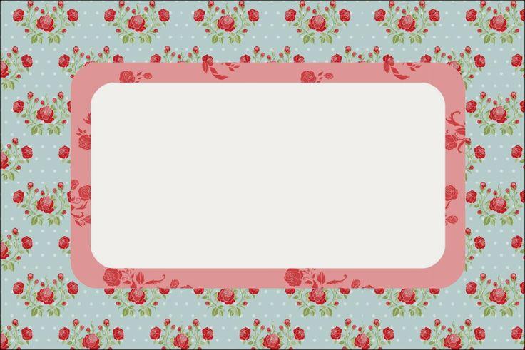 Rosas Rojas en Fondo Celeste: Invitaciones para Imprimir Gratis ...