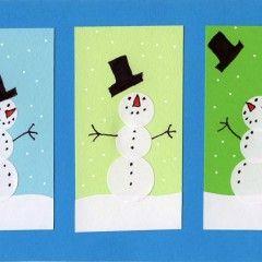 Sticker Snowman Card
