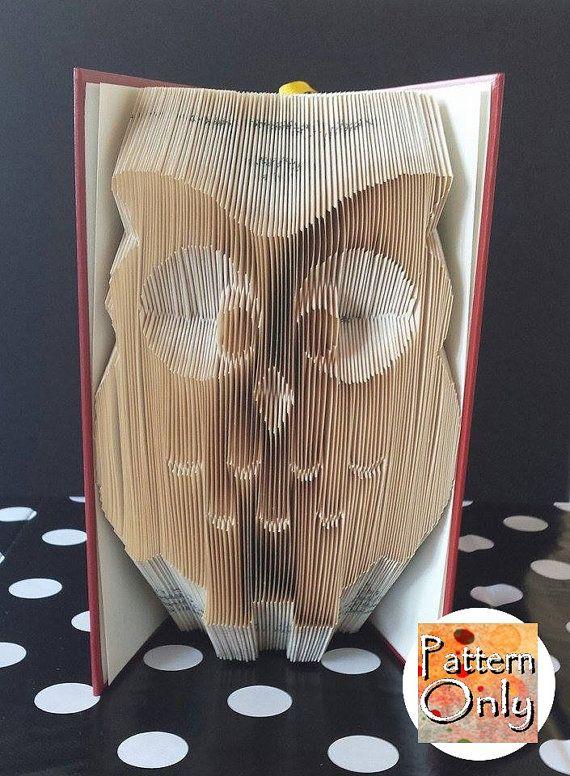 Eule gefaltet Buch Kunst Muster von nosoxcarves auf Etsy