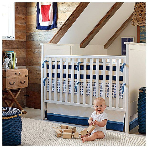 Serena lily james bumper navy lily james nautical for Serena and lily baby girl bedding