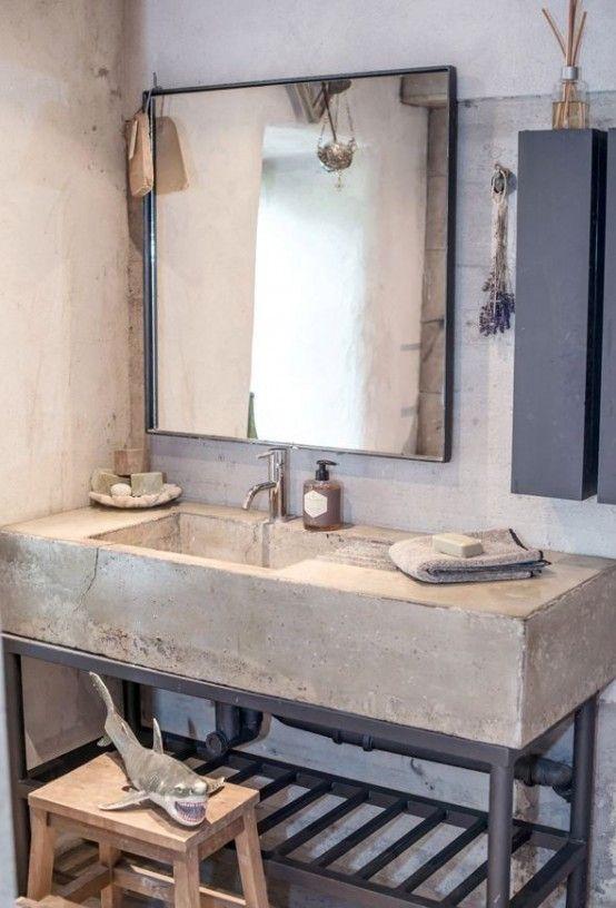 baos revestidos con cemento pulido