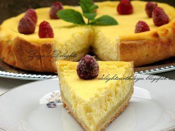 Reteta culinara Cheesecake cu lamaie si zmeura din categoria Prajituri. Cum sa faci Cheesecake cu lamaie si zmeura