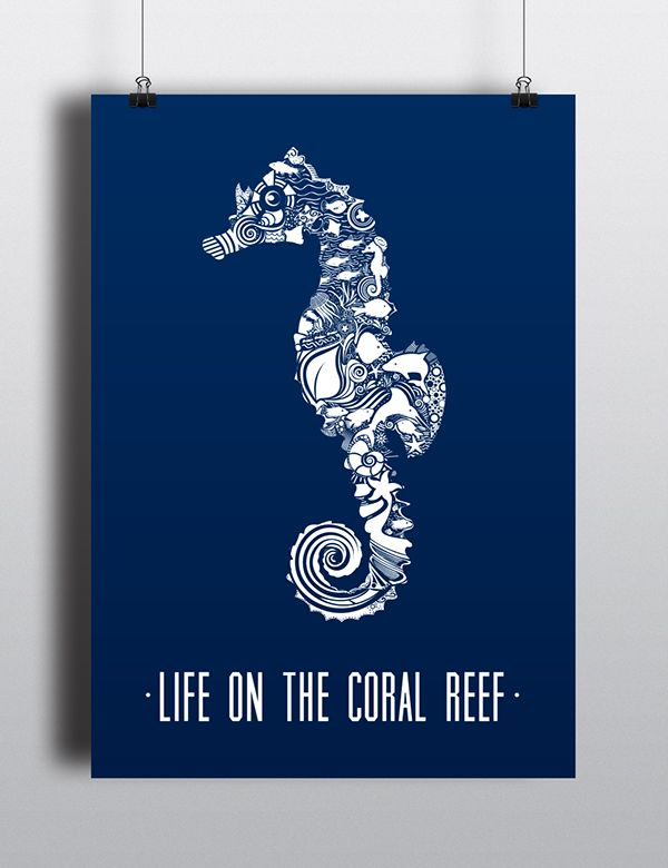 Life On The Coral Reef   Vector Graphic on Behance
