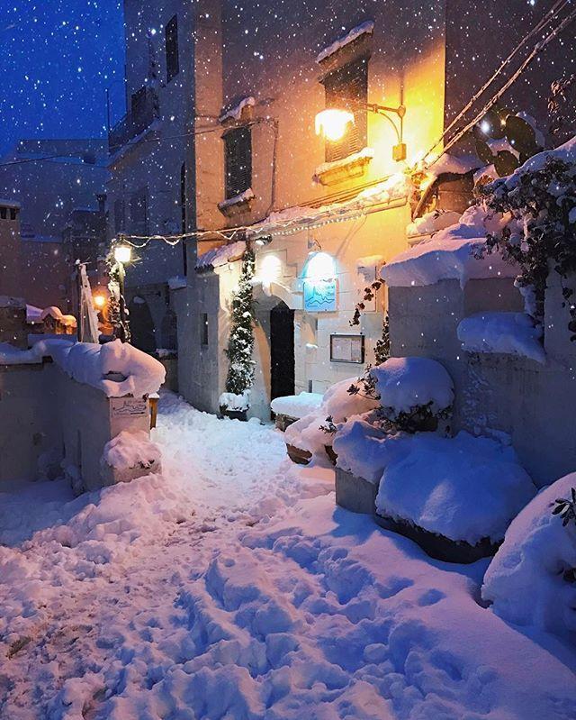 CHE SPETTACOLO CHE SEI! #Matera #Italy #Snow #Winter ☃️❄️☃️❄️