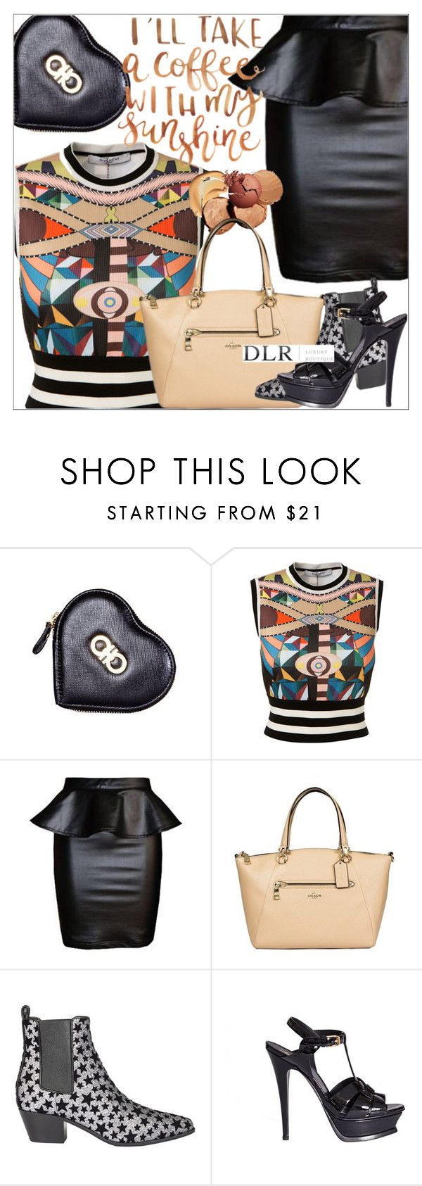 """""""DLRBOUTIQUE.COM"""" by mirachu-1 on Polyvore featuring Salvatore Ferragamo, Givenchy, Coach and Yves Saint Laurent"""