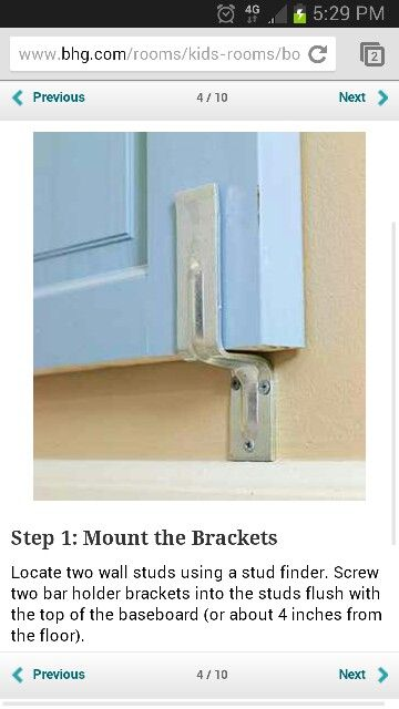 Helpful headboard wall mount... I guess if you can't attach to bed frame (for my diy shutter headboard)