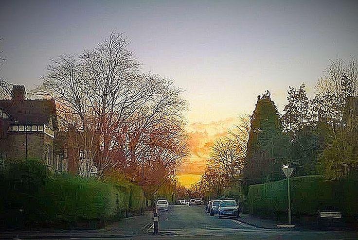 mancunian wave: Skywatch Friday: Leicester Road sundown