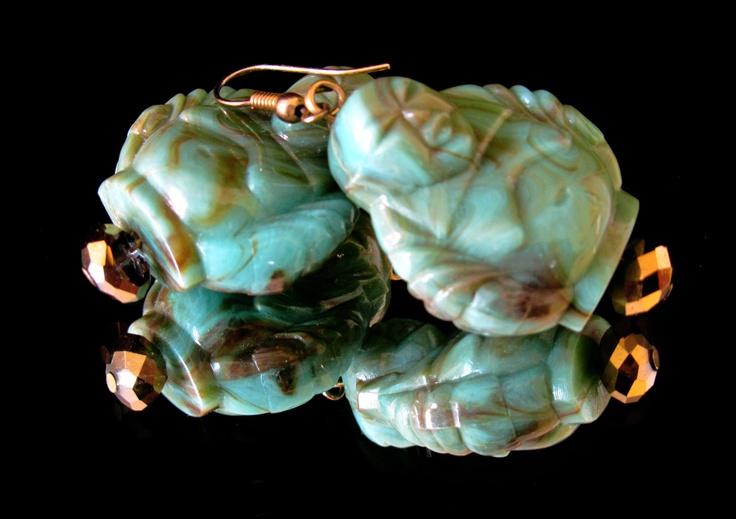 Turquoise Buddha's earrings
