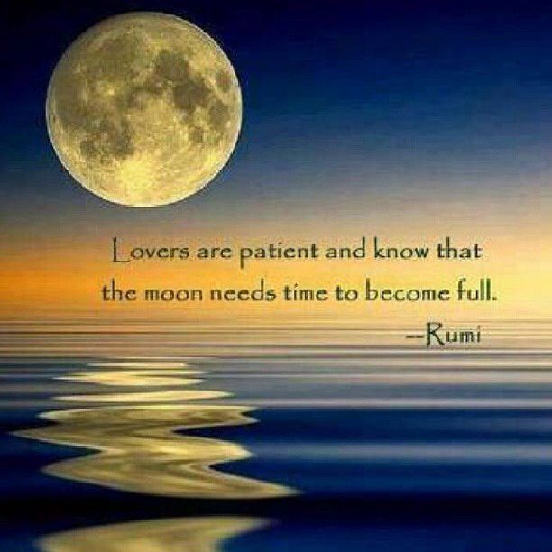 Lovers Are Patient And Know That The Moon Need Time To