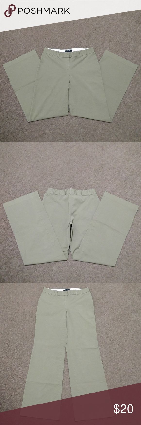 """Body By Victoria Marisa Fit Khaki Pants 6 Body By Victoria Marisa Fit Khaki Pants  Women's Size: 6  Lightly worn but still in great condition!  No holes, rips or frays.  Freshly laundered, smoke free home.  Waist: 15 3/4"""" lying flat (31 1/2"""" doubled)  Rise: 8""""  Inseam:? 31 3/4""""  Bottom Leg Opening:? 10.5"""" across  Tags: Victoria's Secret beige khaki dress trouser wide leg pants Victoria's Secret Pants Trousers"""