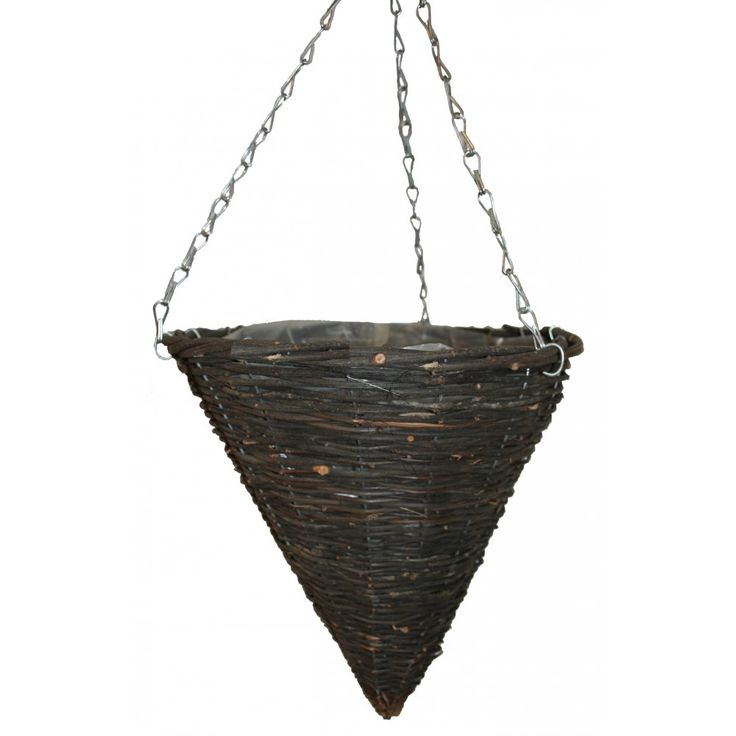 Natural Wicker Cone Shape Hanging Basket