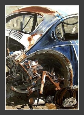 The scrap VW - | Mynderd Vosloo | Painters Online