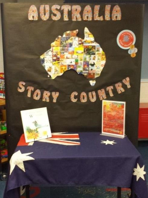 Australia Story Country display for Children's Book Week 2016 Queanbeyan Library