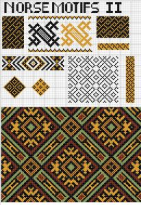 Norse Motifs - charts from the oseberg ship find,