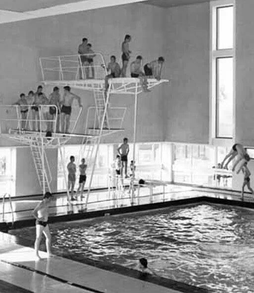 Kirkby Swimming Baths..boys Queing Up
