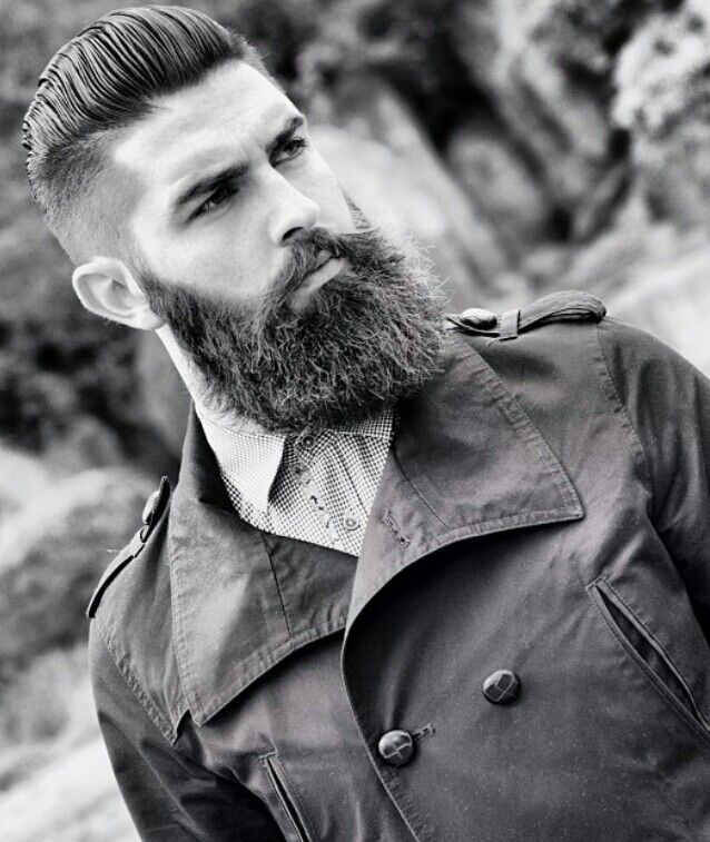 dark full thick beard beards bearded man men stylish style undercut Like, Comment, Repin !! More