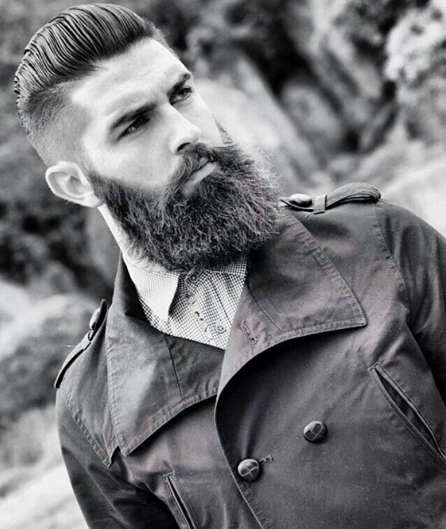 dark full thick beard beards bearded man men stylish style undercut Like, Comment, Repin !!