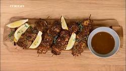 Σουβλάκια κοτόπουλου με σουσάμι