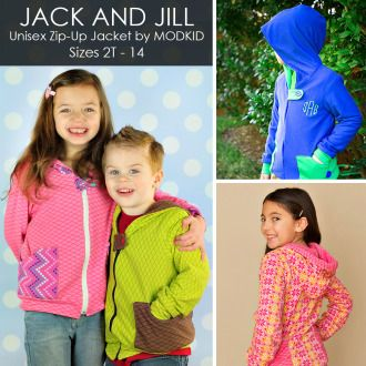 Jack  Jill Jacket by MODKID | Sewing Pattern | YouCanMakeThis.com