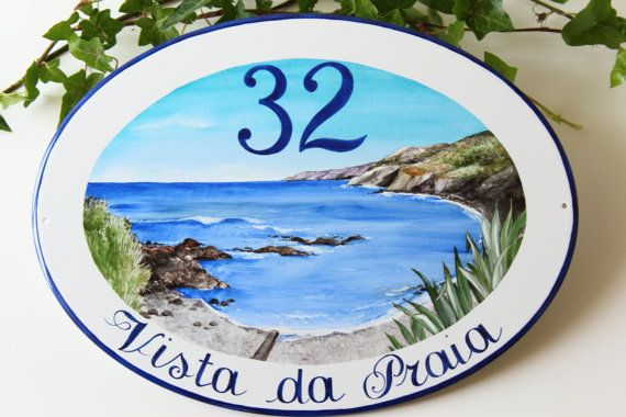 Outdoor ocean House Name Sign, Address Sign, House Sign, Outdoor name sign, House Numbers Sign, Custom sign