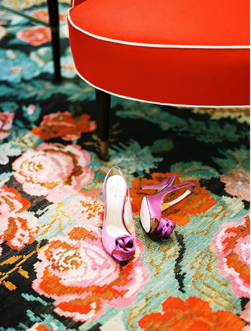 Roses are red, the rug is blue... kick off your shoes and dance with me too!
