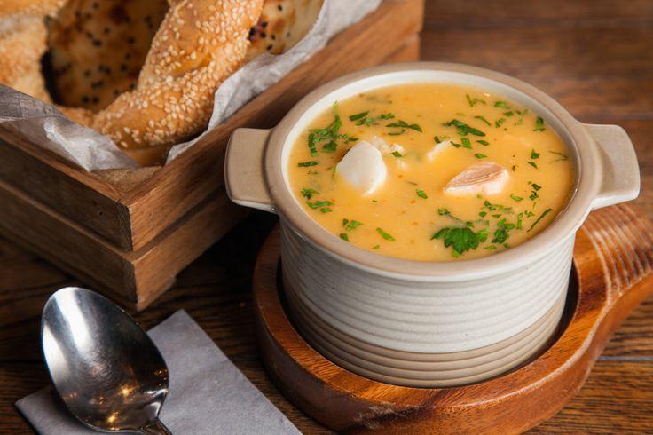 Рыбный суп с булгуром - пошаговый рецепт с фото: Густой турецкий суп с лососем и треской. - Леди Mail.Ru