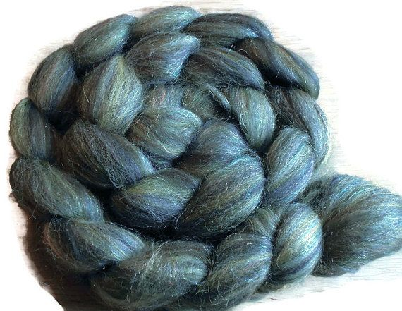 Woodstock Phatfiber- Blend of Shetland and Super Bright Trilobal Nylon Rainbow - Spinning and Felting Fiber