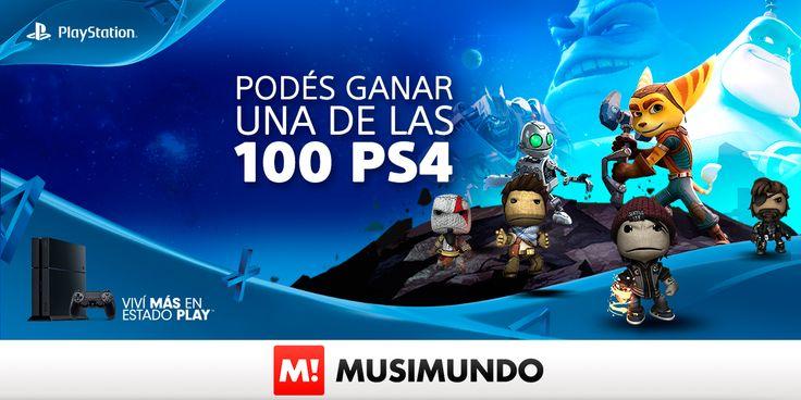 Musimundo.com - GANÁ UNA DE LAS 100 PS4!