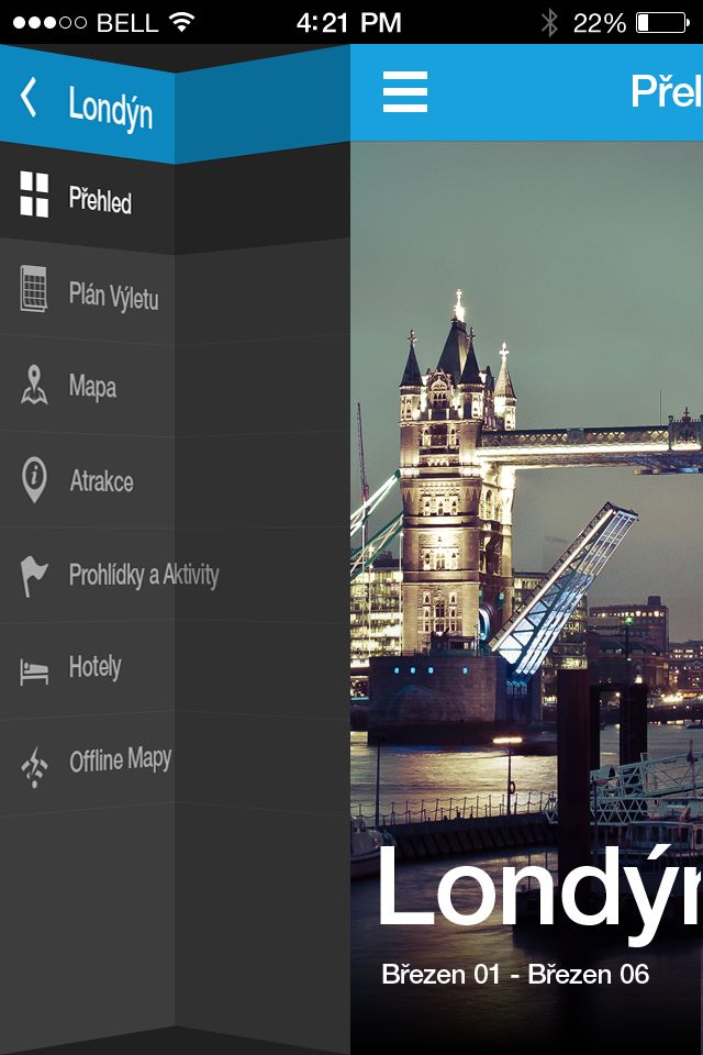 #navigation folds to open / close. activated by menu icon or via swipe.