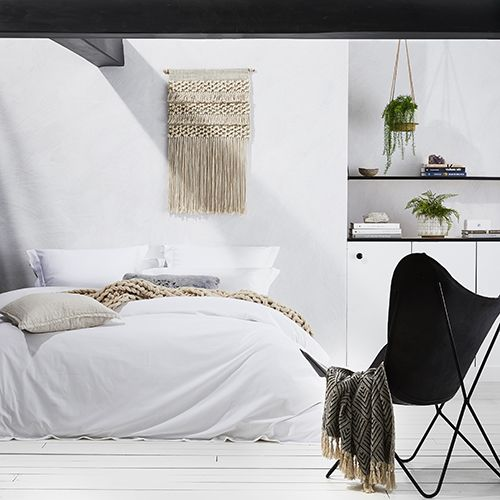600TC White Cotton Bamboo Quilt Cover