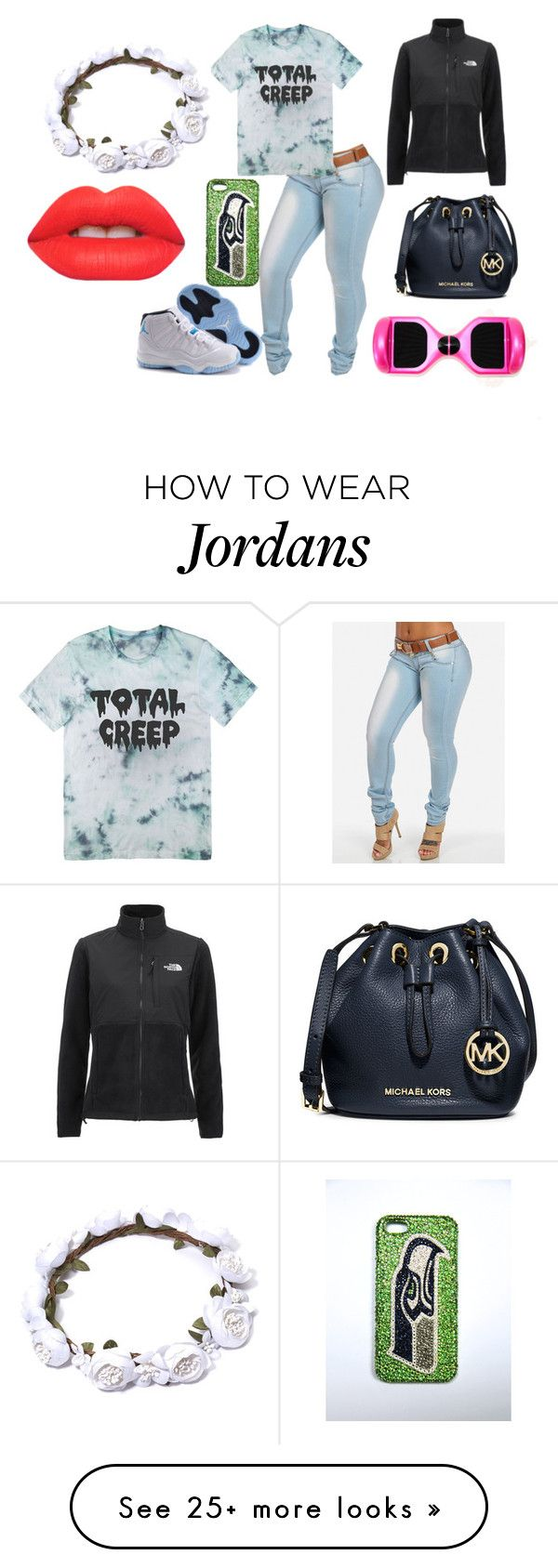 """""""all on me"""" by ari-11 on Polyvore featuring moda, Lime Crime, The North Face e MICHAEL Michael Kors"""