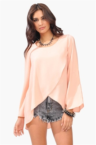 Love the color and front of the blouse