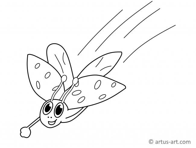 Lady Beetle Coloring Page #spring #insectcoloringpage # ...