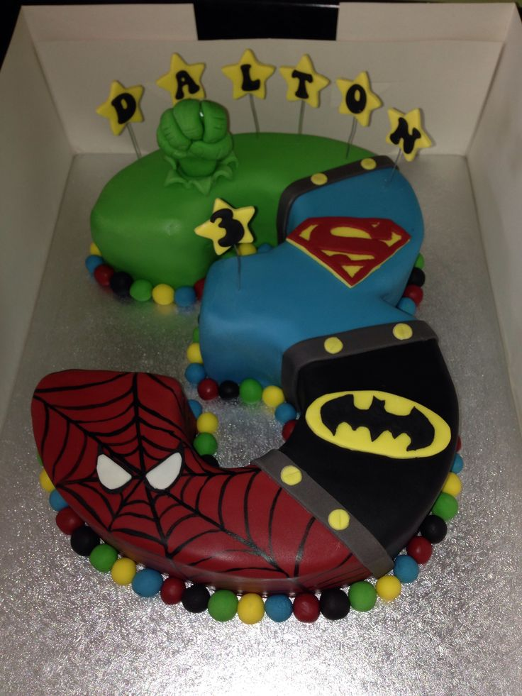 Superhero Cake, my son would so luv this!